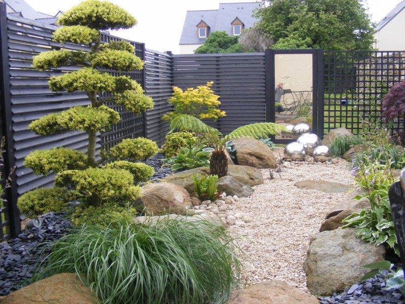 Creation jardin japonais photos for Creer un parterre zen